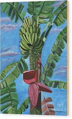 Wood Print featuring the painting Ready For Harvest by Laura Forde