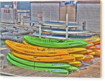 Ready For Summer Wood Print by Heidi Smith