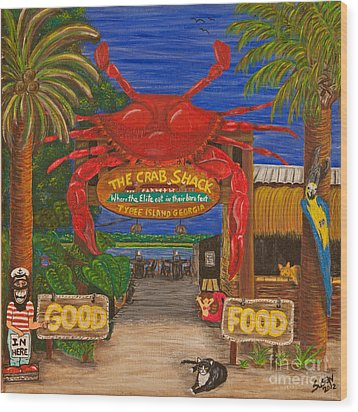 Ready For The Day At The Crab Shack Wood Print