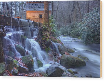 Reagan's Mill Wood Print by Doug McPherson