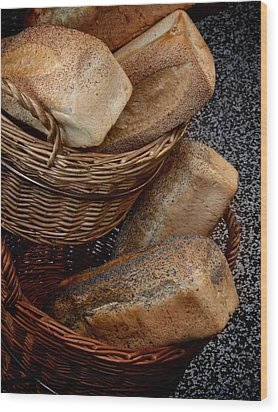 Real Bread Wood Print by Odd Jeppesen