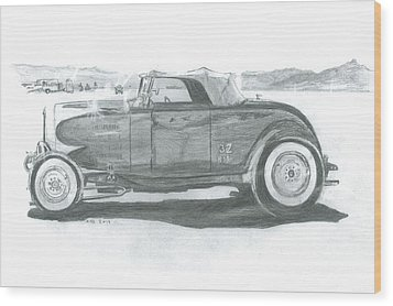 Real Car Guy...real Car Wood Print by Stacey Becker