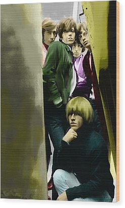 Real Exile The Brian Jones Rolling Stones  Wood Print by Iconic Images Art Gallery David Pucciarelli