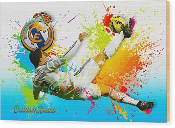 Real Madrid - Cr Wood Print
