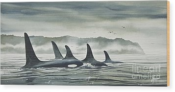 Realm Of The Orca Wood Print by James Williamson