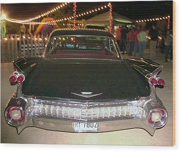 Rear View Black And Chrome Beauty Wood Print by Donna Wilson