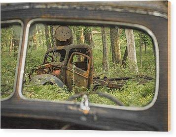 Rear View Wood Print
