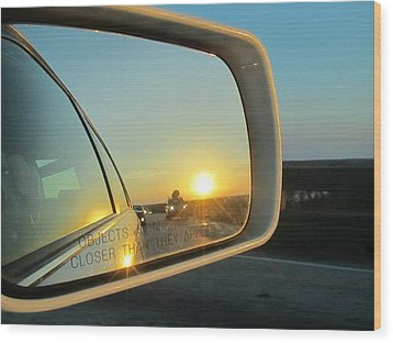 Rear View Sunset Wood Print by Deborah Lacoste