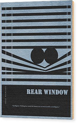 Rear Window Wood Print by Ayse Deniz