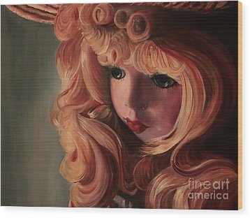 Wood Print featuring the painting Rebecca by Jane Autry