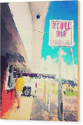 Rebel Dip Wood Print by M  Stuart