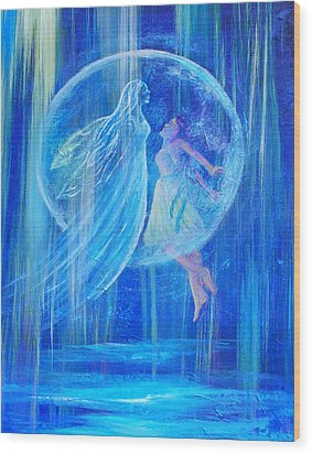 Rebirthing The Sacred Feminine Wood Print by The Art With A Heart By Charlotte Phillips