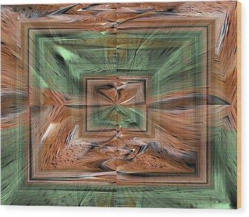 Rechtecke Wood Print