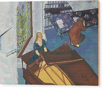 Recital Rehersal Wood Print by Betty Compton