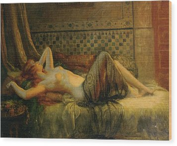 Wood Print featuring the painting Reclining Nude   by Delphin Enjolras