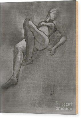 Reclining Woman Wood Print