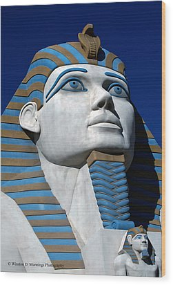 Recreation - Great Sphinx Of Giza Wood Print