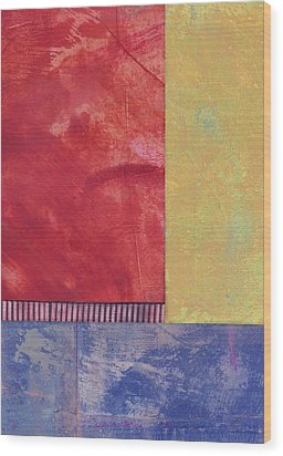Rectangles - Abstract -art  Wood Print by Ann Powell