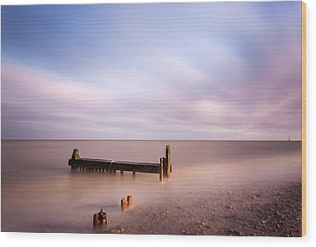 Reculver Bay Wood Print