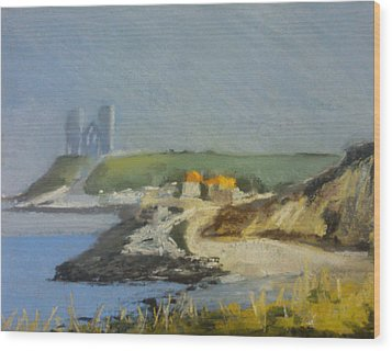 Reculver Haze Wood Print by Paul Mitchell