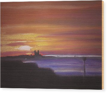 Reculver Sunset Wood Print by Paul Mitchell