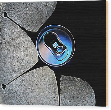 Wood Print featuring the photograph Recycled Can In A Recycle Bin by John King