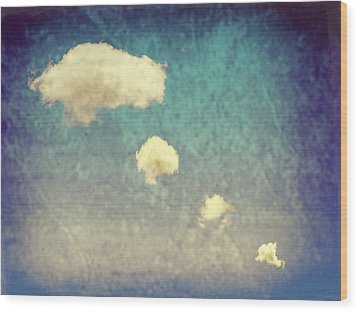 Recycled Clouds Wood Print by Amanda Elwell