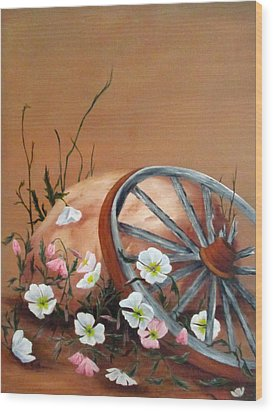 Recycled Wood Print by Roseann Gilmore