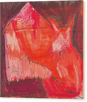 Red. 1 Wood Print by Marie Tosto