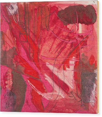 Red. 3 Wood Print by Marie Tosto