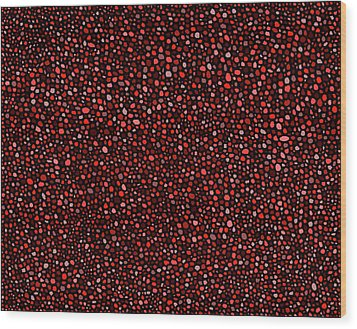 Red And Black Circles Wood Print by Janice Dunbar