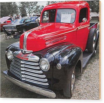 Red And Black Mercury Pick Up Wood Print by Mick Flynn