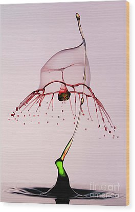 Red And Green Wood Print by Jaroslaw Blaminsky