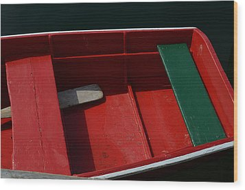 Red And Green Wood Print