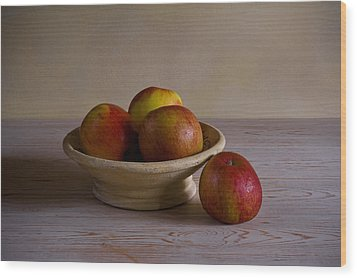 Wood Print featuring the photograph Red Apples by Trevor Chriss