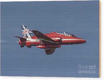 Red Arrows 50 Display Seasons Wood Print by J Biggadike