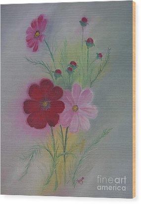 Red Wood Print by Barbara Hayes
