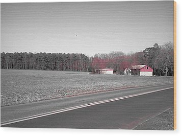 Wood Print featuring the photograph Red Barn  by Amazing Photographs AKA Christian Wilson