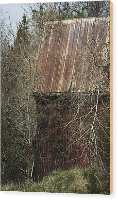 Wood Print featuring the photograph Red Barn - Dares Beach Road by Rebecca Sherman