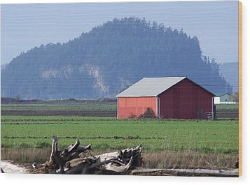 Wood Print featuring the photograph Red Barn by Erin Kohlenberg