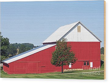 Wood Print featuring the photograph Red Barn by Gena Weiser