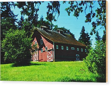 Wood Print featuring the photograph Red Barn  by Mindy Bench