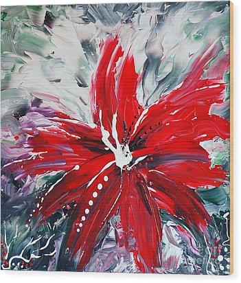 Red Beauty Wood Print by Teresa Wegrzyn