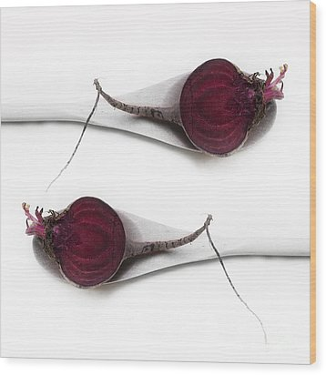 Red Beets Wood Print by Priska Wettstein