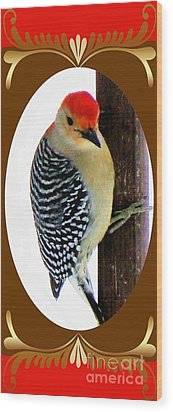 Wood Print featuring the photograph Red-bellied Woodpecker Framed by Janette Boyd