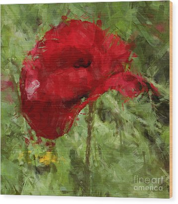 Wood Print featuring the photograph Red Bloomers by Julie Lueders