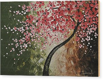 Red Blossoms  Wood Print by Tomoko Koyama
