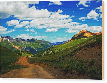 Red Brick Road Wood Print by Cheryl Cencich