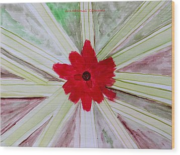 Red Brilliance Wood Print by Sonali Gangane