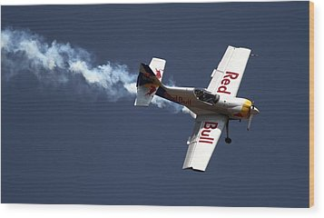 Wood Print featuring the photograph Red Bull - Aerobatic Flight by Ramabhadran Thirupattur